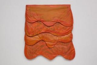 Leda Catunda, Capas laranja, 1998 — Cortesía del MALBA