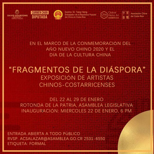 Banner de la exposición Fragmentos de la Diáspora