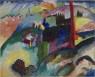Vasily Kandinsky, Paisaje con chimenea de una fábrica, 1910. Óleo sobre lienzo, 66 × 81,9 cm. Solomon R. Guggenheim Museum, Nueva York, Colección Fundacional Solomon R. Guggenheim, por donación 41.504 © Vasily Kandinsky, VEGAP, Bilbao, 2020