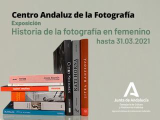 magen de la muestra bibliográfica Historia de la fotografía en femenino. Fondos bibliográficos del CAF.