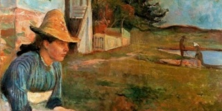 Edvard Munch. Atardecer, 1888.