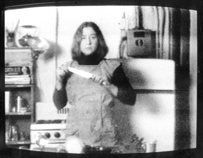 Martha Rosler, Semiotics of the kitchen, 1975. Video, 6 minutes.