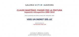 Claudi Martínez: Passió per la pintura. Exposició retrospectiva 2008-2019 – Invitación