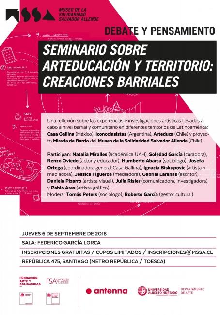 Arteducación y territorio: Creaciones barriales