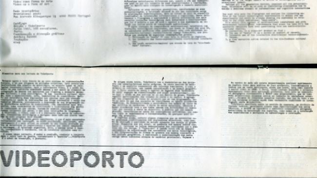 Uma perspetiva sobre a vídeo arte portuguesa, #1 videoporto – anos 80