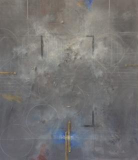 """Francisco Corcuera, """"Sin título"""", 2016, Acrílico y técnica mixta sobre tela, 220 x 190 cm"""
