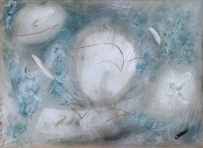 A. Masson, 'Eclosion VI', 1958 técnica mixta sobre papel, sobre tela 7 — Cortesía de la Galería Marc Domènech (GMD)
