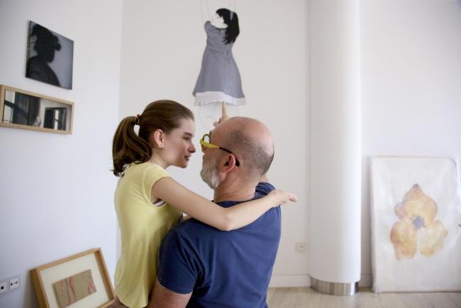 Pablo de Castro y su hija Jimena