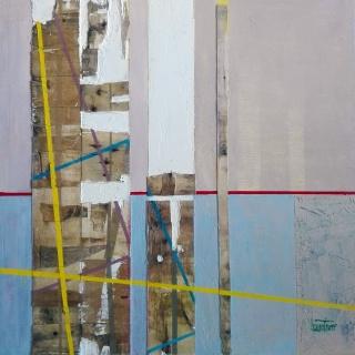 """Jesús Iáñez Ferrer, Laberinto de marzo, 60x60 cm. — Cortesía de la Galería de Arte Contemporáneo """"Cristóbal Bejarano"""""""