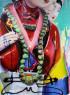 Ana Barriga, Don't speak, 2020. Óleo, esmalte, rotulador y spray sobre lienzo, 195 x 146 cm. © 2020 Ana Barriga. Cortesía de la artista y la Galería Yusto/Giner