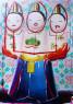 Ana Barriga, La familia, 2020. Óleo, esmalte, rotulador y spray, 116 x 162 cm. — Cortesía de la artista y la Galería Yusto/Giner