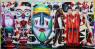 Ana Barriga, Toma el saco, dame el dinero, 2020. Óleo, esmalte, rotulador y spray, 286 x 146 cm. — Cortesía de la artista y la Galería Yusto/Giner