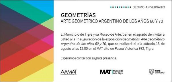 Geometrías. Arte geométrico argentino de los años 60 y 70