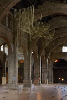 Leonor Antunes, the pliable plan, 2016. Veduta dell'installazione, CAPC Musée d'art Contemporain de Bordeaux, Bordeaux, 2017. Courtesy dell'artista e CAPC, Bordeaux 2017. Foto: Nick Ash