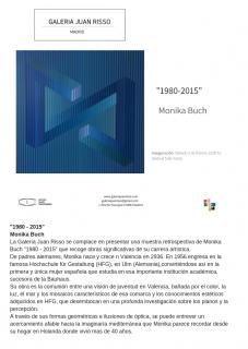 Monika Buch. 1980 - 2015 — Cortesía de la Galería Juan Risso