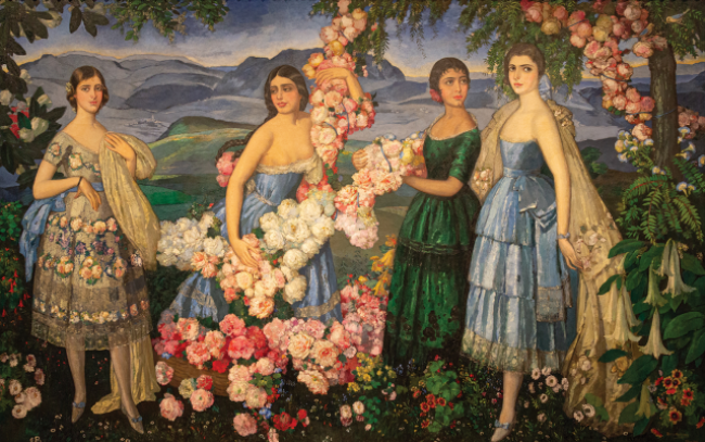 Alfredo Ramos Martinez, Flores Mexicanas, 1914-1929, oil on canvas, Missouri Historical Society Collections. Cortesía del DMA