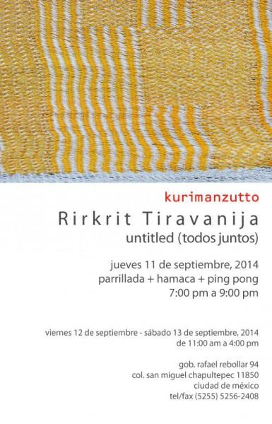 Rirkrit Tiravanija, Untitled (todos juntos)