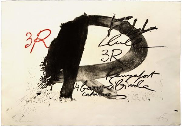 Antoni Tàpies, TRES R,1975