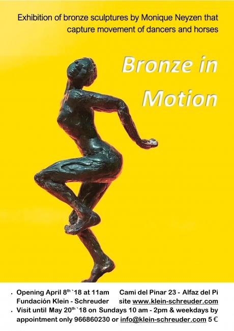 Poster de Movimiento en bronce - Cortesía de la artista
