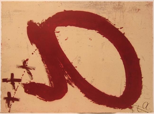 Antoni Tàpies. 'A vermella'