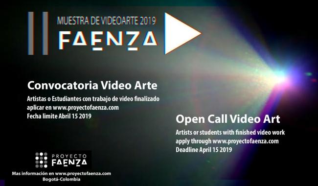 Convocatoria Video Arte Faenza 2019