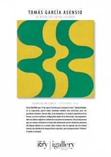 Tomás García Asensio. La relación entre colores