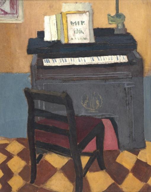 Eleonore Koch, sem titulo, 1949, oleo sobre papel, 54 x 43,5 cm. — Cortesía de Galeria Marcelo Guarnieri