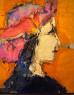 Manolo Valdés, mixta/arpillera, 226 x 188 cm. — Cortesía de David Cervelló Galería de arte