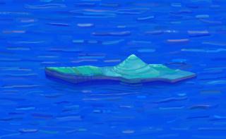 2021, Francisca Martínez Fernández. Flotar y dejar ser, pintura digital, medidas variables — Cortesía de la Sala de Arte CCU