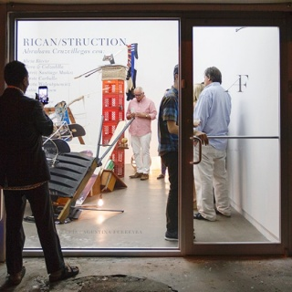 Rican/Struction, Galería Agustina Ferreyra, Vista de apertura