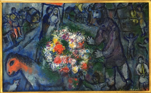 Marc Chagall, Homme Fleurie, 1976, óleo sobre tela
