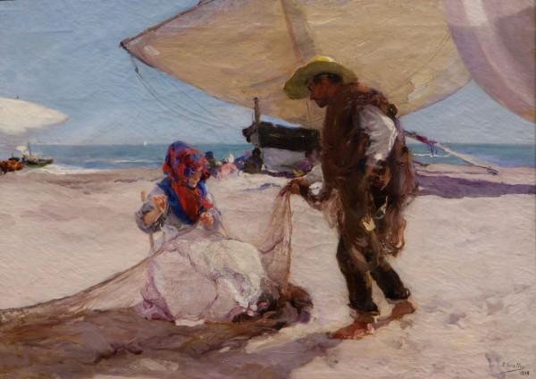 Joaquín Sorolla, La red, 1898, óleo sobre tela