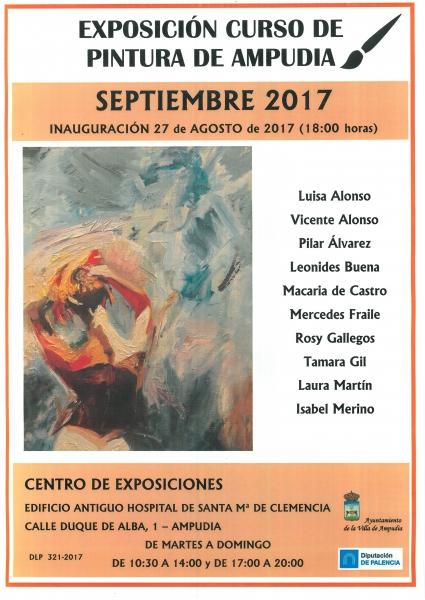 Exposición curso de pintura de Ampudia