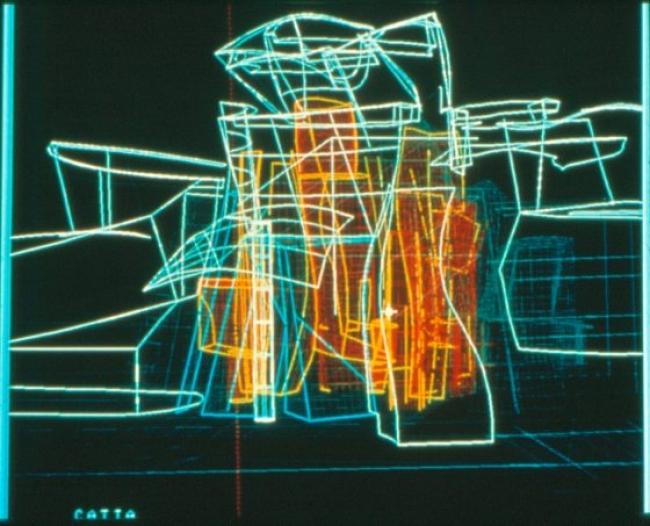 Frank Gehry Plano digital del edificio del Museo Guggenheim Bilbao mediante el programa CATIA, 1997 © FMGB Guggenheim Bilbao Museoa. Cortesía de Guggenheim