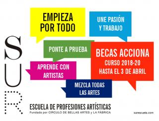 BECAS ACCIONA 2018-2020. Imagen cortesía La Fábrica Comunicación