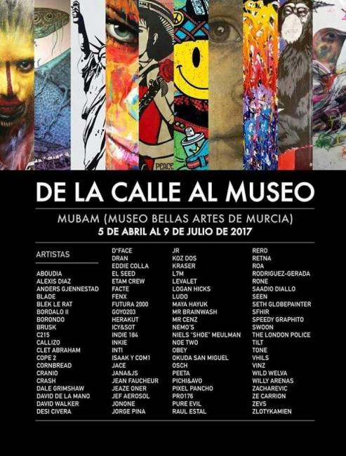 Cartel de la exposición. Cortesía del MUBAM y de Murcia Street Art Project