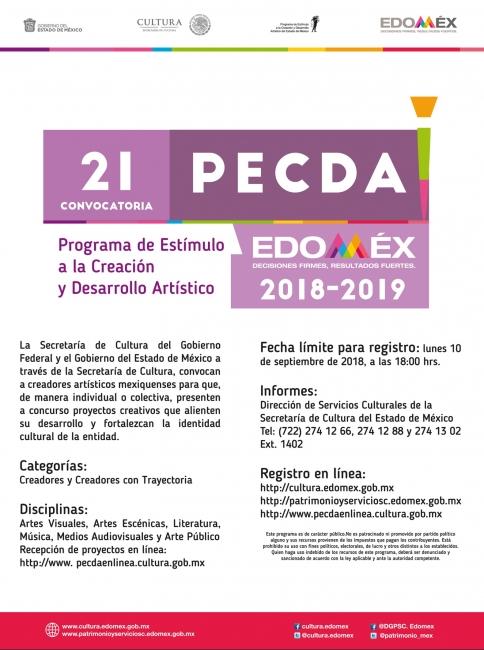 Programa de Estímulo a la Creación y Desarrollo Artístico del Fondo Especial para la Cultura y las Artes del Estado de México (PECDA)