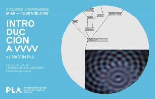 Introducción a VVVV. Imagen cortesía Espacio Pla