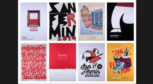 Carteles San Fermín 2019 — Cortesía del Ayuntamiento de San Fermín