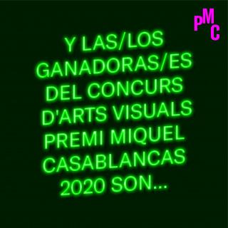 Concurs d'Arts Visuals Premi Miquel Casablancas 2020