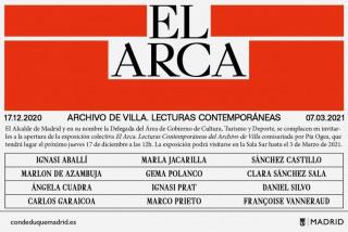 El arca. Lecturas contemporáneas del archivo de la Villa Conde Duque