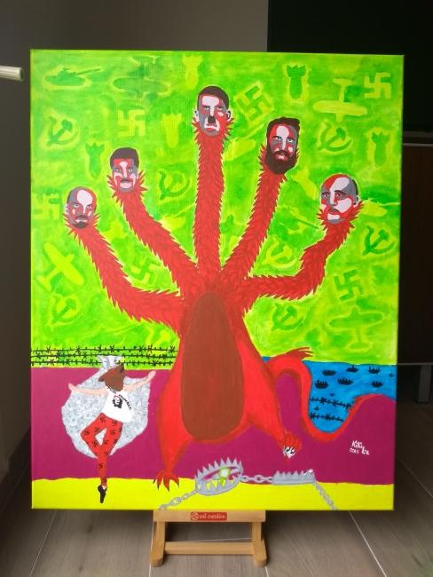 """Finalista: """"Extremos: Cabezas de un mismo monstruo"""" - Kirsten Loewenthal -"""