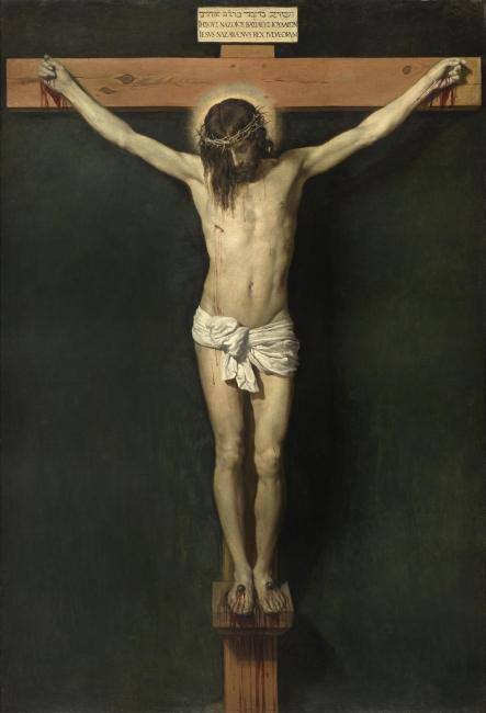 Cristo crucificado Diego Velázquez Óleo sobre lienzo, 248 x 169 cm h. 1632 Madrid, Museo Nacional del Prado — Cortesía del Museo del Prado