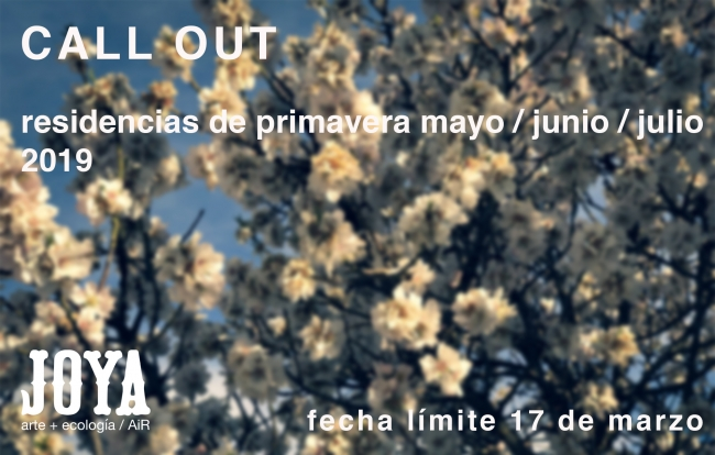 Joya: arte + ecología / AiR