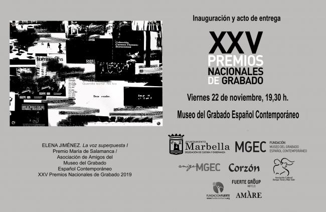XXV Premios Nacionales de Grabado