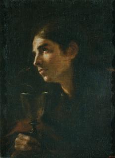 Mateo Cerezo. Sant Joan Evangelista, cap a 1665. Museu Nacional d'Art de Catalunya — Cortesía del Museu Nacional d'Art de Catalunya