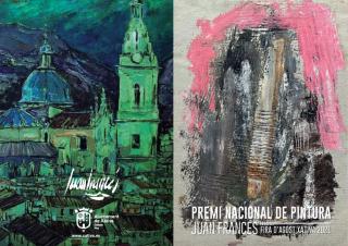 Cartel de Premi Nacional de Pintura Juan Francés Fira d'Agost 2021. Xàtiva