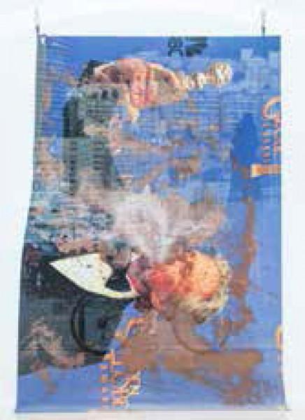 Mike Bouchet y Paul McCarthy: Michael Douglas Carpet Painting 4, 2014, técnica mixta, 200 x 300 cm