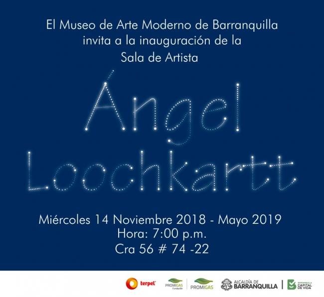Invitación Sala de artista: ÁNGEL LOOCHKARTT