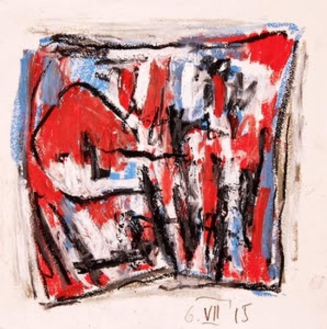 Karl Stengel, Untitled 14, 2015. Oil pastel on paper. Courtesy The Stengel Collection.